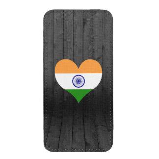 Bandera de la India coloreada Funda Acolchada Para iPhone