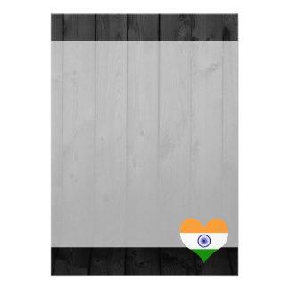 """Bandera de la India coloreada Invitación 5"""" X 7"""""""