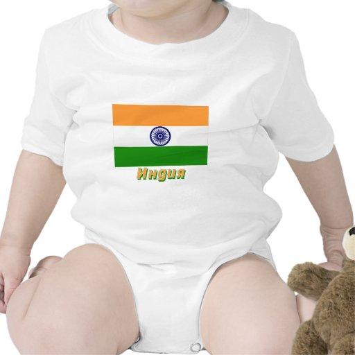 Bandera de la India con nombre en ruso Traje De Bebé
