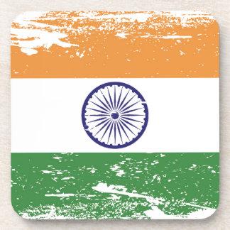 Bandera de la India del Grunge Posavasos