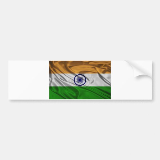 Bandera de la India Pegatina Para Auto