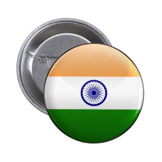 Bandera de la India Pin Redondo 5 Cm
