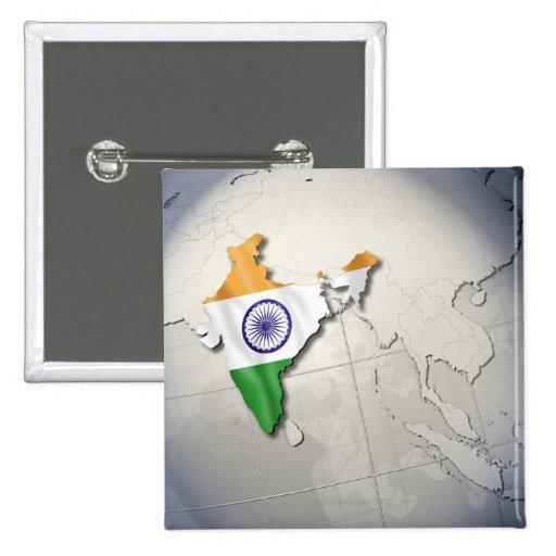 Bandera de la India Pin