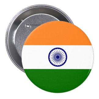 Bandera de la India Pin Redondo De 3 Pulgadas