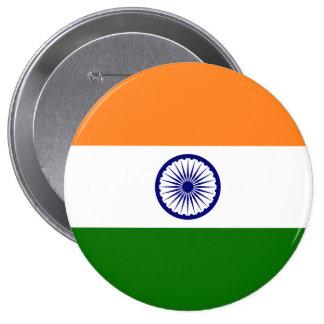 Bandera de la India Pin Redondo De 4 Pulgadas
