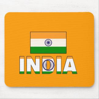 Bandera de la India Tapetes De Raton