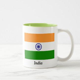 Bandera de la India Taza De Dos Tonos