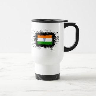 Bandera de la India Taza De Viaje