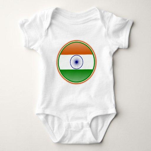Bandera de la India Tee Shirts