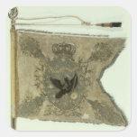 Bandera de la infantería prusiana debajo de colcomanias cuadradass