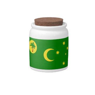 Bandera de la isla de Cocos Platos Para Caramelos