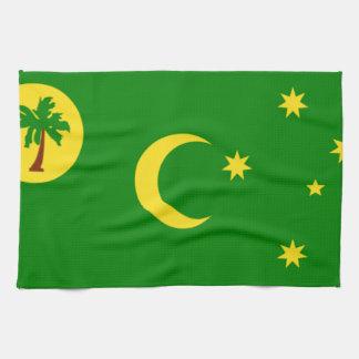 Bandera de la isla de Cocos Toallas De Cocina