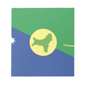 Bandera de la Isla de Navidad Blocs De Notas