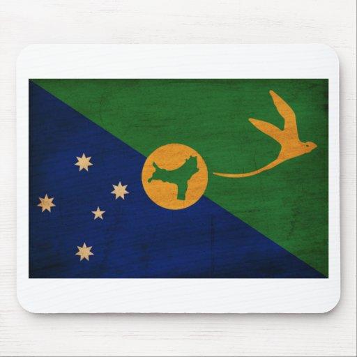 Bandera de la Isla de Navidad Tapetes De Raton