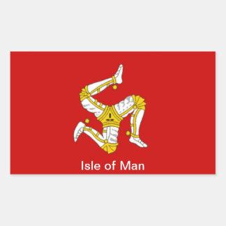 Bandera de la isla del hombre rectangular pegatina