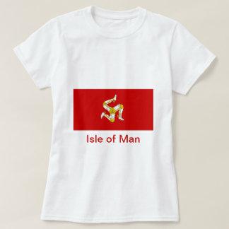 Bandera de la isla del hombre playera