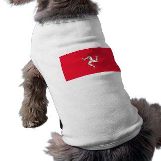 Bandera de la isla del hombre camiseta de perro
