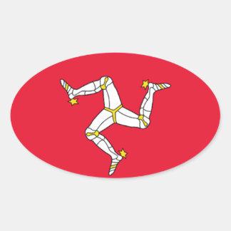 Bandera de la isla del pegatina del óvalo del