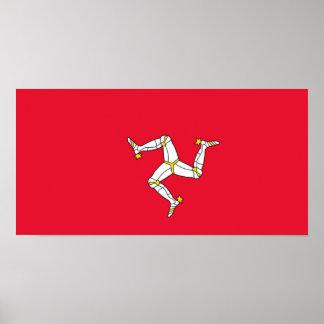 Bandera de la isla del poster del hombre