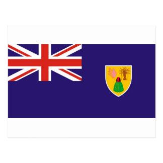 Bandera de la Isla Turcos y Caicos Tarjeta Postal