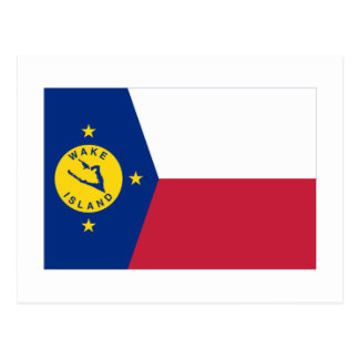 Bandera de la isla Wake Postales