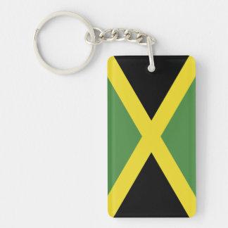 Bandera de la Jamaica Llavero Rectangular Acrílico A Doble Cara