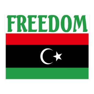 Bandera de la libertad de Libia Tarjetas Postales