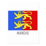 Bandera de la Mancha con nombre Tarjeta Postal