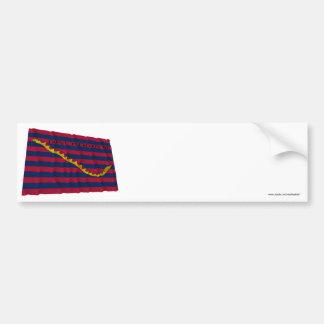 Bandera de la marina de guerra de Carolina del Sur Etiqueta De Parachoque
