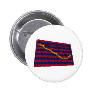 Bandera de la marina de guerra de Carolina del Sur Pin Redondo De 2 Pulgadas