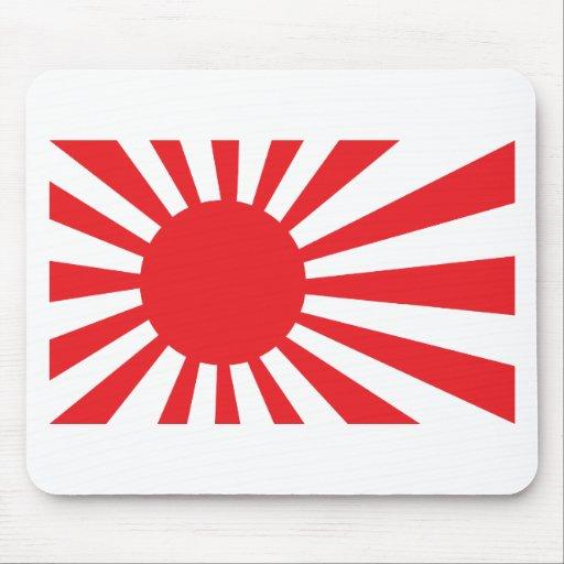 Bandera de la marina de guerra de Japón - rojo Alfombrilla De Raton