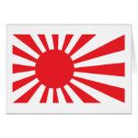 Bandera de la marina de guerra de Japón - rojo Tarjetón