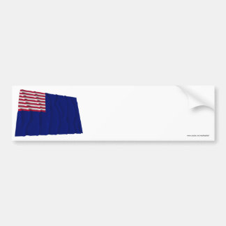 Bandera de la marina de guerra de Pennsylvania Pegatina De Parachoque