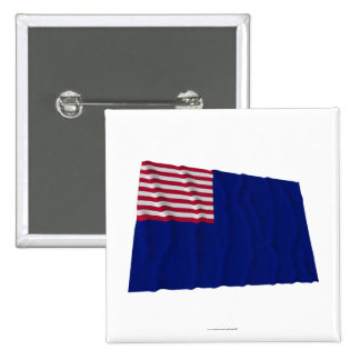 Bandera de la marina de guerra de Pennsylvania Pin Cuadrada 5 Cm