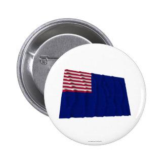 Bandera de la marina de guerra de Pennsylvania Pin Redondo 5 Cm