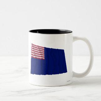 Bandera de la marina de guerra de Pennsylvania Taza Dos Tonos
