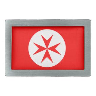 Bandera de la marina de guerra Toscana Medici Hebilla Cinturón Rectangular