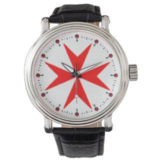 Bandera de la marina de guerra Toscana Medici Reloj