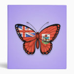 "Bandera de la mariposa de Bermudas en púrpura Carpeta 1"""