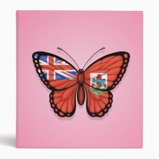 Bandera de la mariposa de Bermudas en rosa