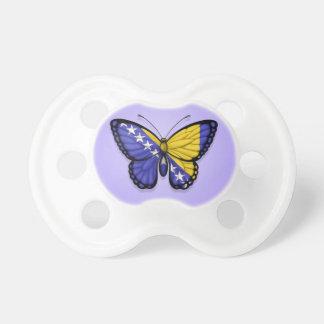 Bandera de la mariposa de Bosnia y Hercegovina en  Chupetes Para Bebés