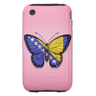 Bandera de la mariposa de Bosnia y Hercegovina en Tough iPhone 3 Carcasa