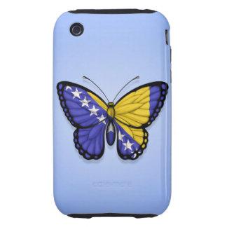 Bandera de la mariposa de Bosnia y Hercegovina en iPhone 3 Tough Carcasas