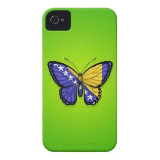 Bandera de la mariposa de Bosnia y Hercegovina en iPhone 4 Case-Mate Fundas