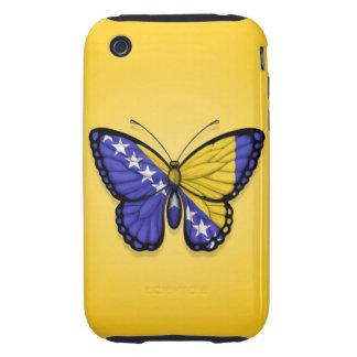 Bandera de la mariposa de Bosnia y Hercegovina en Tough iPhone 3 Funda
