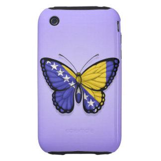 Bandera de la mariposa de Bosnia y Hercegovina en Tough iPhone 3 Protectores
