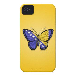 Bandera de la mariposa de Bosnia y Hercegovina en iPhone 4 Cobertura