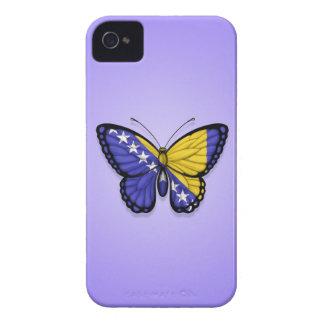 Bandera de la mariposa de Bosnia y Hercegovina en Case-Mate iPhone 4 Funda