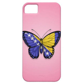 Bandera de la mariposa de Bosnia y Hercegovina en iPhone 5 Case-Mate Protectores