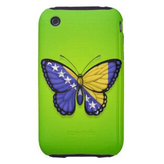 Bandera de la mariposa de Bosnia y Hercegovina en Tough iPhone 3 Cárcasas
